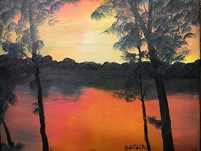 Painting - Bonnie's Lake 2 by David Bartsch