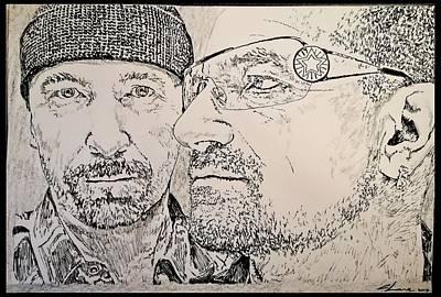 U2 Drawing - Bono And The Edge by Cormac Lane