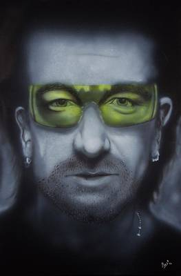 Painting - Bono by Bas Hollander