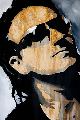 U2 Painting - Bono by Brad Jensen