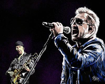 Digital Art - Bono Edge by Stan Kwong