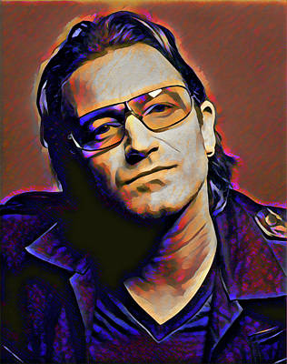 Digital Art - Bono by Gary Grayson