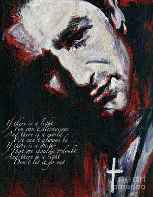 U2 Mixed Media - Bono - Man Behind The Songs Of Innocence by Tanya Filichkin