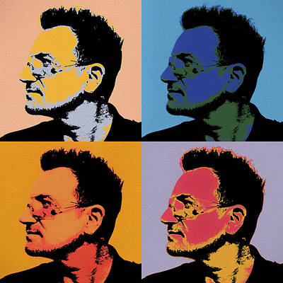Bono Painting - Bono Pop Panels by Dan Sproul