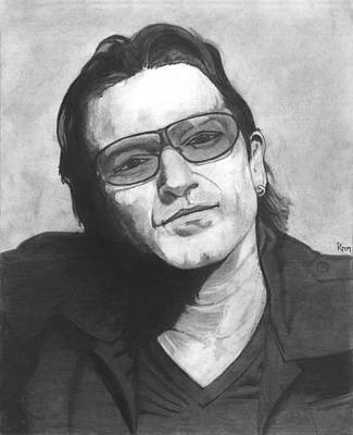 Bono Drawing - Bono by Russell Griffenberg