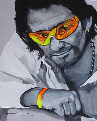 U2 Drawing - Bono  U2 2 U by Eric Dee