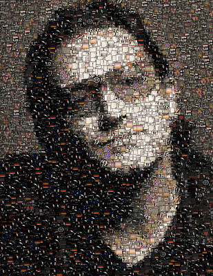 U2 Mixed Media - Bono U2 Albums Mosaic by Paul Van Scott