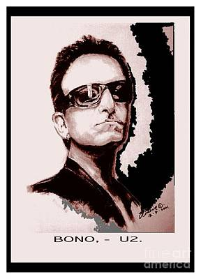 Bono Painting - Bono U2 by Liam O Conaire