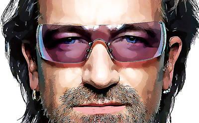 Bono Mixed Media - Bono U2 by Love Art