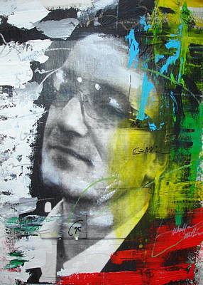 U2 Mixed Media - Bono  by Walford Williams