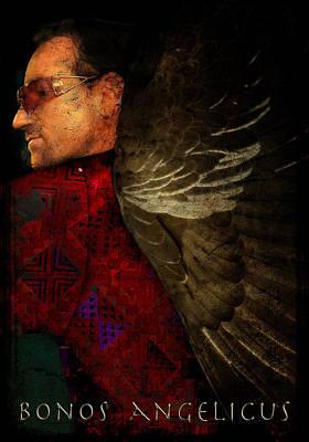 Bono Digital Art - Bonos Angelicus by Kerry Gavin