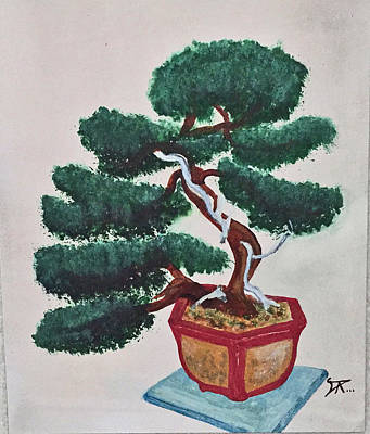 Painting - Bonsai #3 by Donald Paczynski