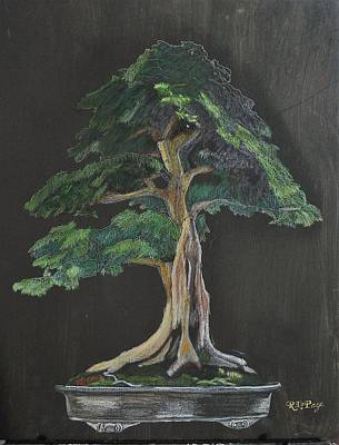 Painting - Bonsai #1 by Richard Le Page
