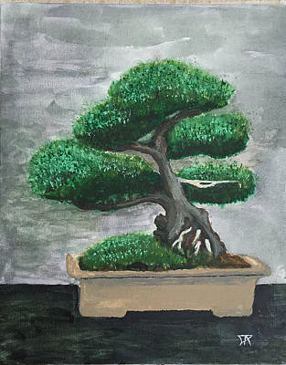 Painting - Bonsai #2 by Donald Paczynski