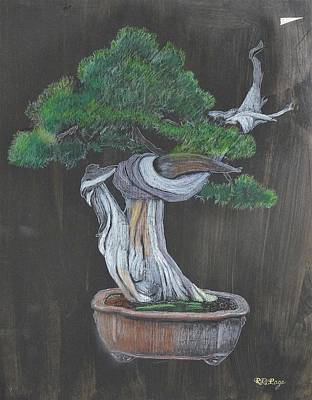 Painting - Bonsai #2 by Richard Le Page