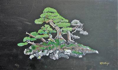 Pastel - Bonsai #3 by Richard Le Page