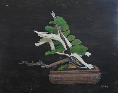 Pastel - Bonsai #4a by Richard Le Page