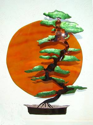 Bonsai At Sunset Art Print by Diane Snider