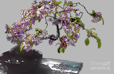Bonsai Beauty Art Print by Linda  Parker