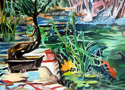 Bonsai Meditations Art Print by Mindy Newman