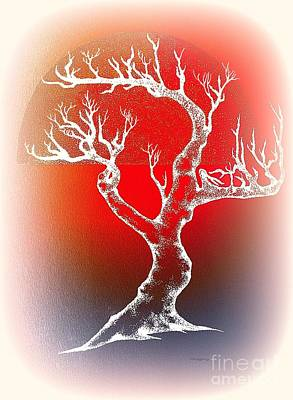 Bonsai Red Art Print