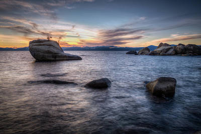 Photograph - Bonsai Rock Against The Sunset by Rick Strobaugh
