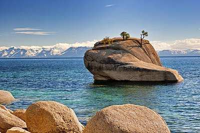 Bonsai Rock At Lake Tahoe Art Print
