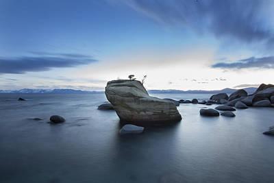 Bonsai Rock Photograph - Bonsai Rock Lake Tahoe by Jeremy Jensen
