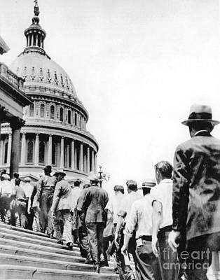 Photograph - Bonus Army Marchers, 1932 by Granger