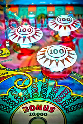 Photograph - Bonus Points - Pinball by Colleen Kammerer