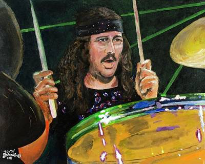 Led Zeppelin Painting - Bonzo - John Bonham by Bruce Schmalfuss