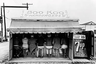 Boo Koo 5 Cent Burger Joint - Texas 1939 Art Print by Daniel Hagerman