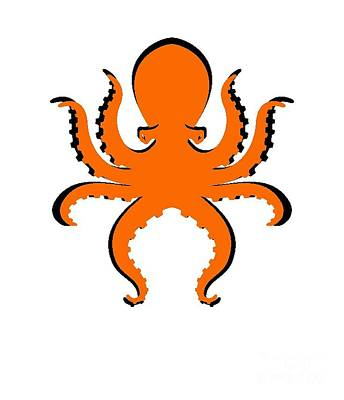 Photograph - Boo The Big Orange Octopus  by Edward Fielding