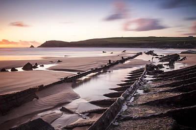 Trevone Photograph - Boobys Bay by Alex Stevenson