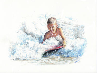 Painting - Boogie Boarding by Sue Henson