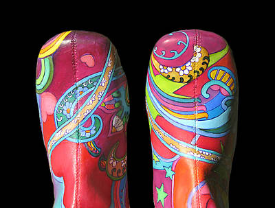 Peter Max Painting - Boogie Shoes 2 by Mary Johnson