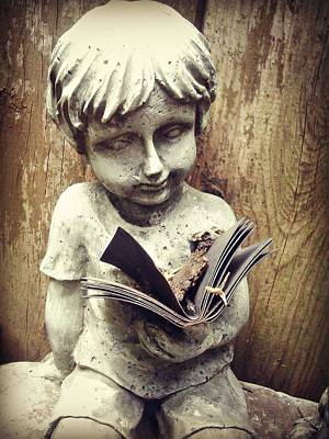 Sculpture - Book Boy by Brynn Ditsche