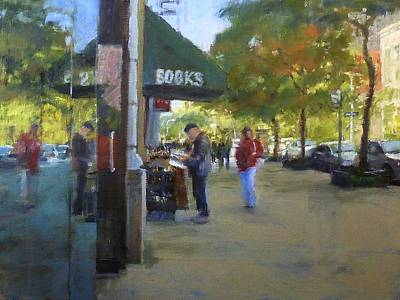 Book Browsing On Broadway Art Print