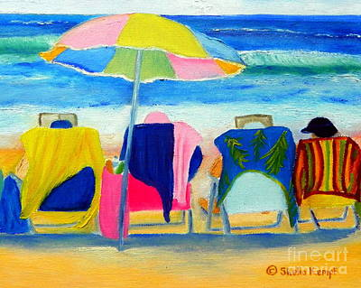 Painting - Book Club Of Four by Shelia Kempf