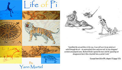 Pi Mixed Media - Book Illustration Competition Entry by Yvonne Ayoub