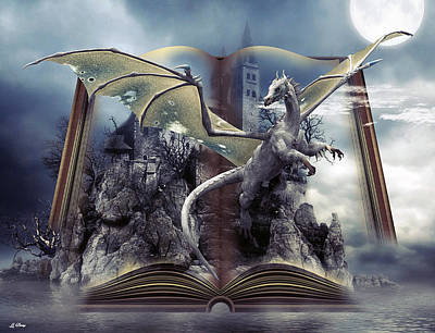 Book Of Fantasies Art Print by G Berry
