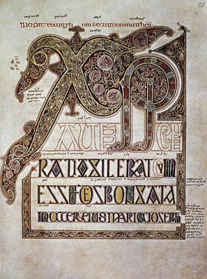 Photograph - Book Of Lindisfarne Initial by Granger