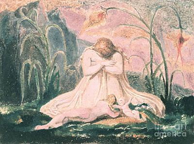 Vale Painting - Book Of Thel by William Blake