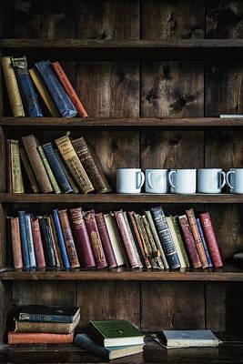Library Photograph - Book Shelf by Joana Kruse