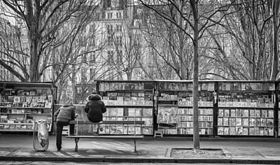 Photograph - Book Stalls Along The Seine. by Pablo Lopez
