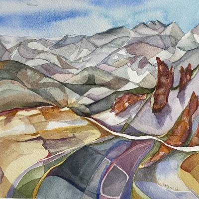 Painting - Bookends - Alta/snowbird Utah by Lynne Bolwell