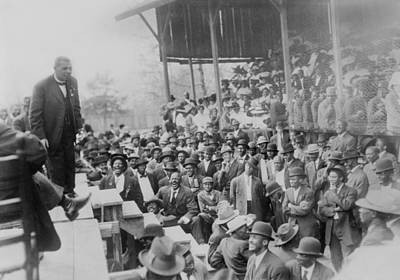 Jim Crow South Photograph - Booker T. Washington Addressing by Everett