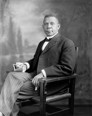 Historian Photograph - Booker T Washington by War Is Hell Store