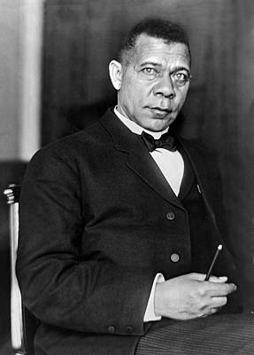 Booker Taliaferro Washington Art Print by Waldon Fawcett