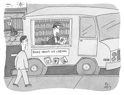 Ice Drawing - Books About Ice Cream by Peter C Vey
